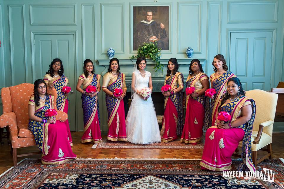 Half & Half Bridesmaids Sarees