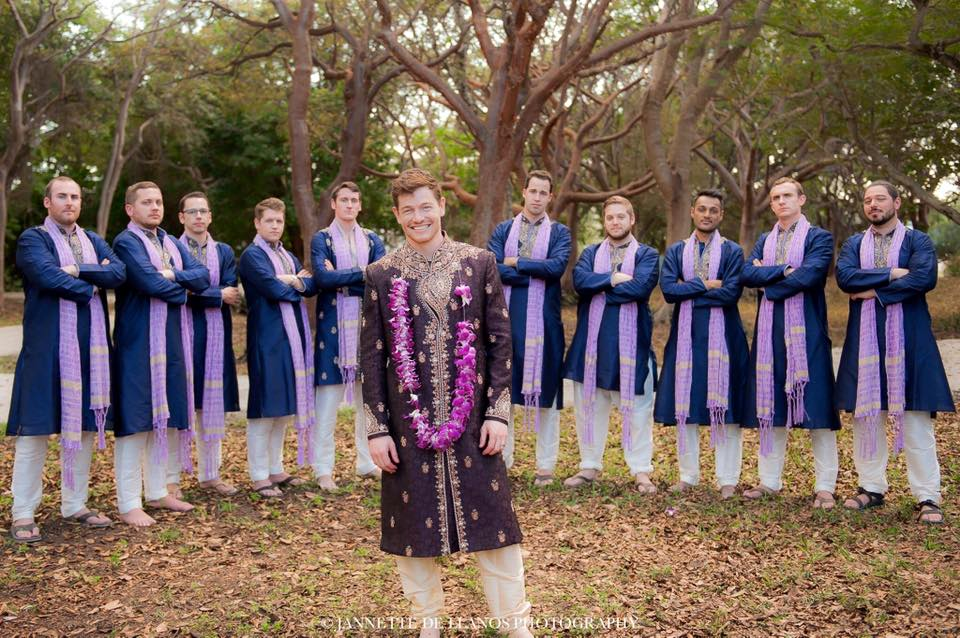 Groomsmen in Purple