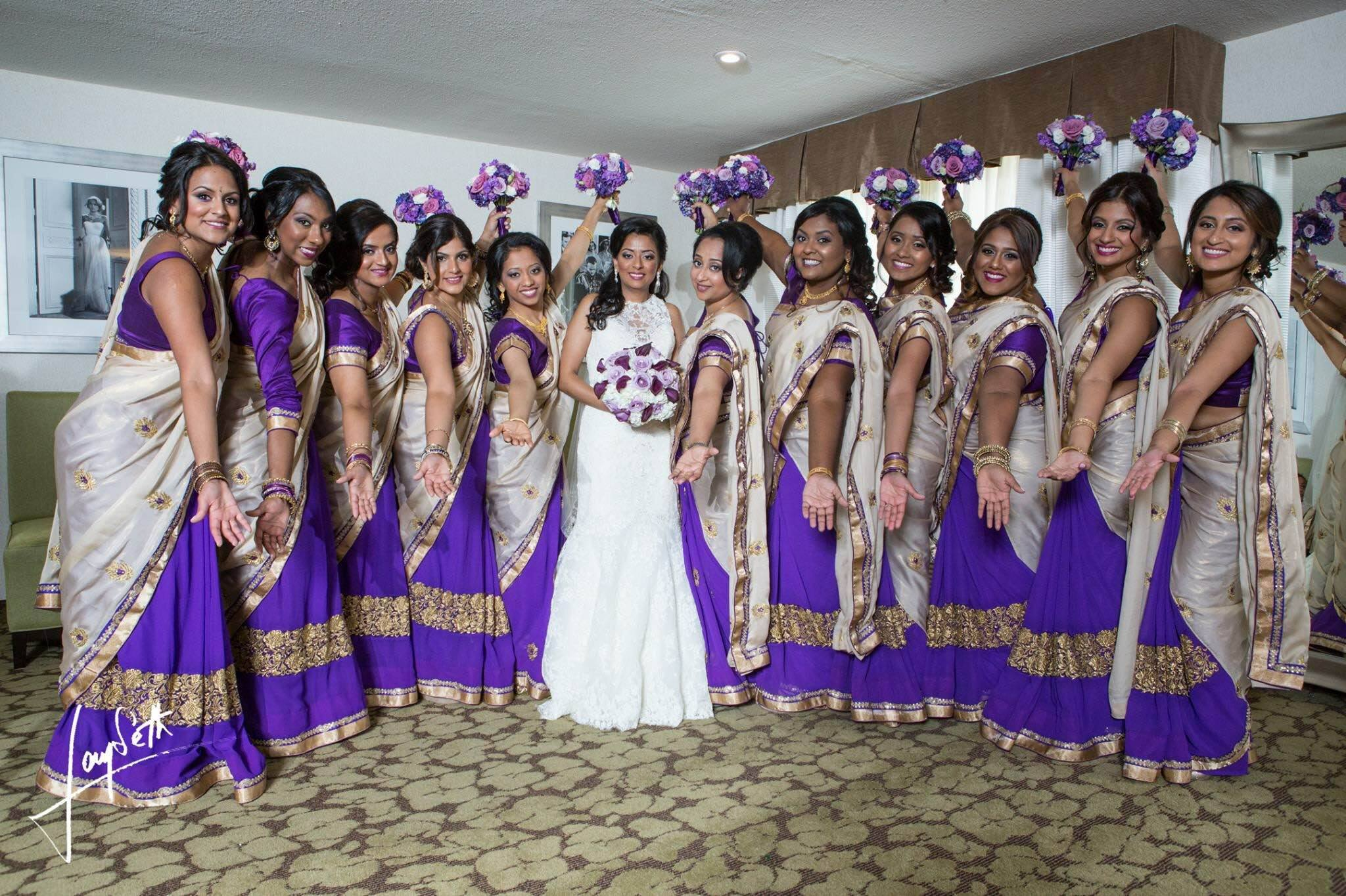 1/2 & 1/2 Bridesmaids Sarees