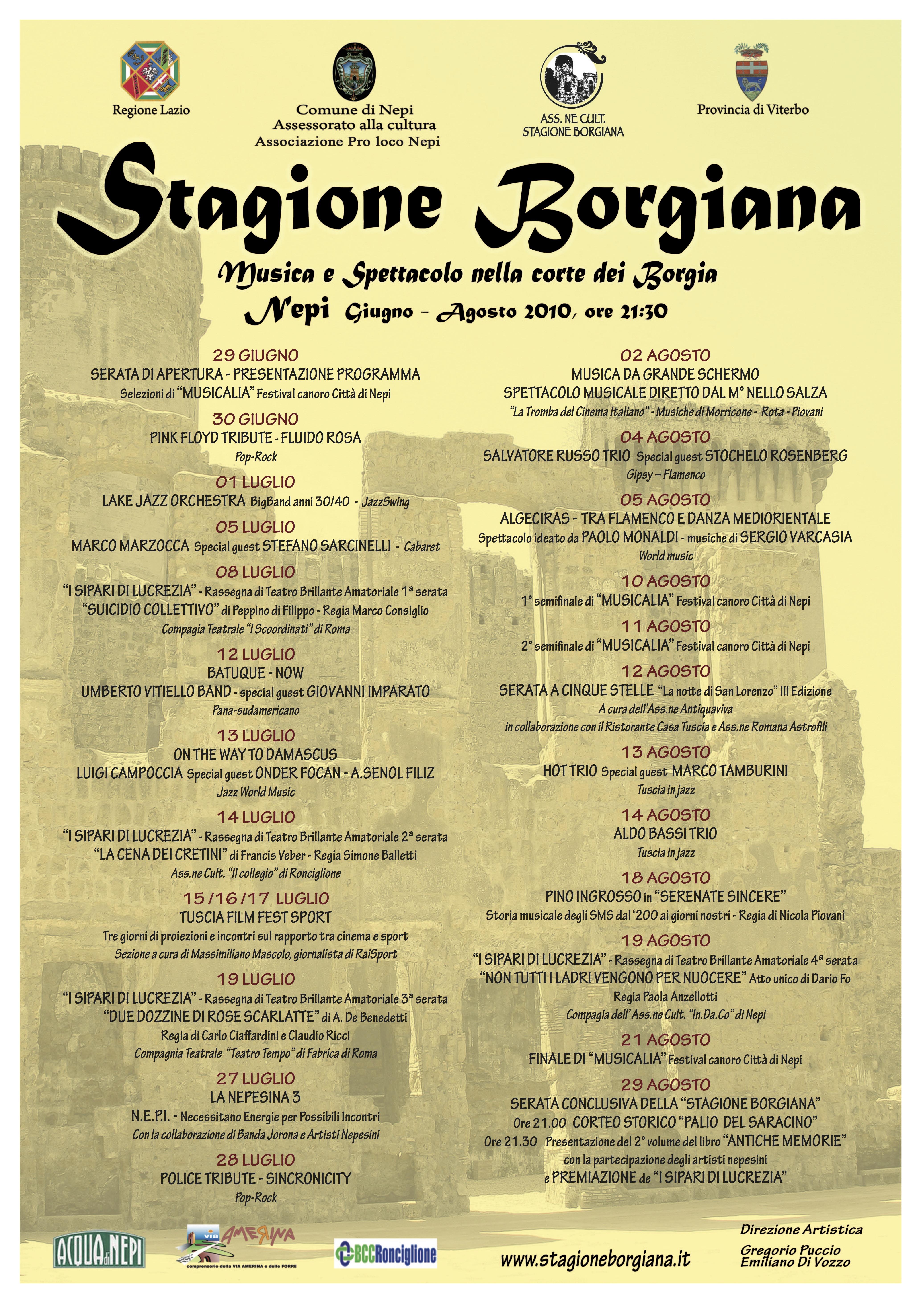 Stagione Borgiana 2010