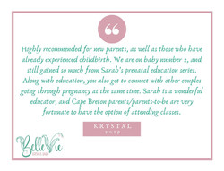 Highly recommended for new parents, as well as those who have already experienced childbirth. We are