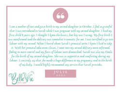 I am a mother of two and gave birth to my second daughter in October. I feel so grateful that I was