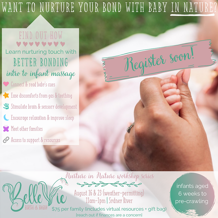 GROUP: Better Bonding (infant massage)