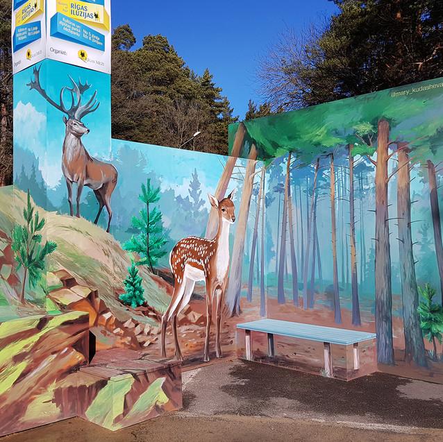 """3D stand """"Bambi"""" by Maria Kudasheva"""