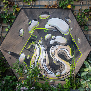 Abstract 3D wooden panel