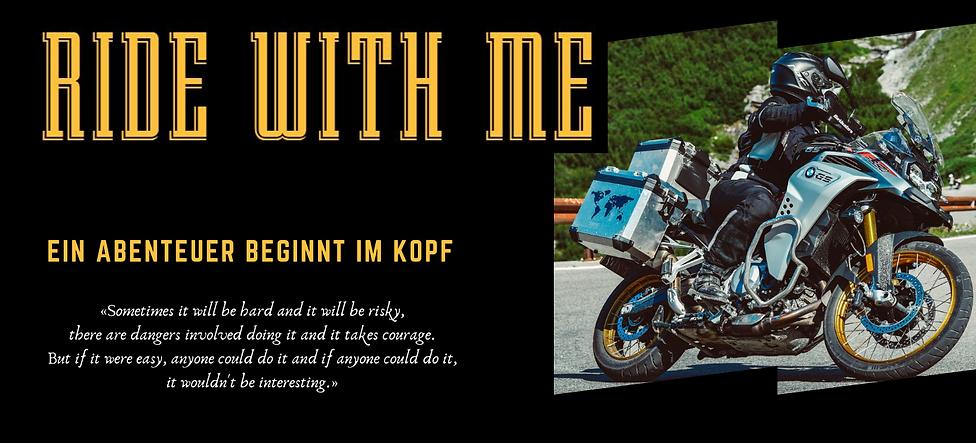 RIDE WITH ME - Webseite - Banner zugesch