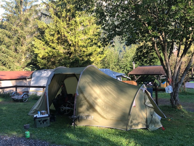 Das neue Biker-Zelt