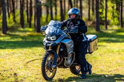 Wer sein Motorrad liebt, der schiebt auch mal.