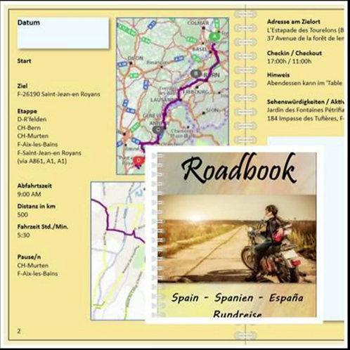 Roadbook Spanien-Rundreise