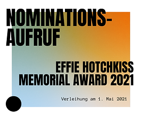Nominationsaufruf Award 2021