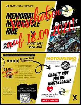 Charity Ride - Event Verschoben