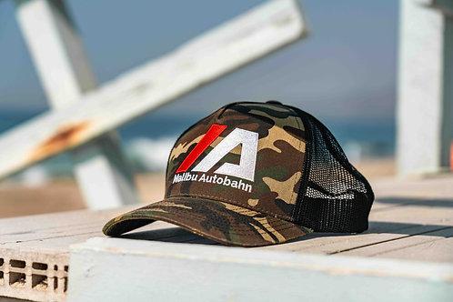 Malibu Autobahn Embroidered Camo Trucker Hat