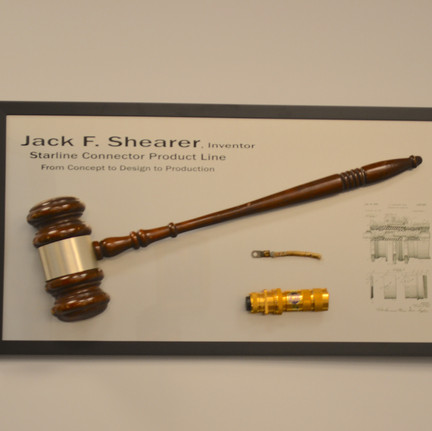The gavel of Jack F. Shearer