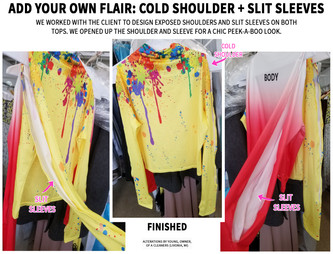 Add your own flair: cold shoulders + slit sleeves.jpg