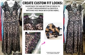 create custom fit dresses - black lace d