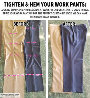 Tighten & Hem your work pants