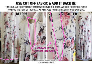 Use Cut off Fabric & Add it back in:
