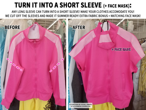 Turn it into a short sleeve (+ face mask)