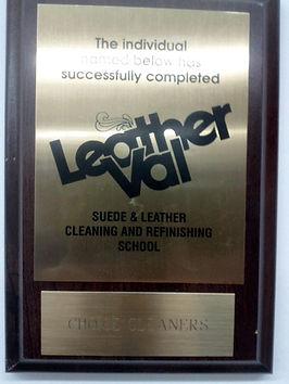 A Cleaners Livonia Michigan Dry Cleaners Leather Val Suede and Leather Cleaning and refinishing school completion recognition