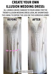 Create your own Illusion wedding dress: