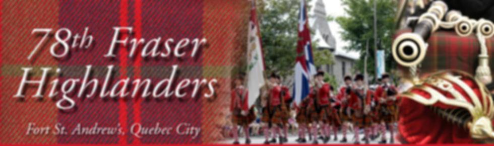 Cornemuses à Québec: 78th Fraser Highlanders