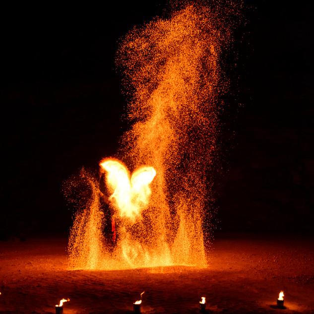sehr große Feuereffekte