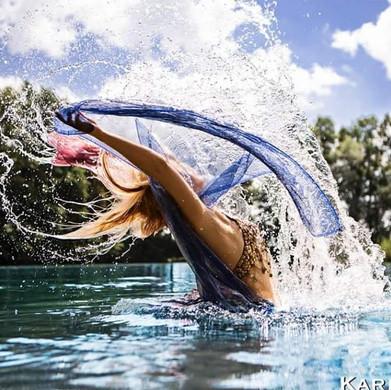 Fächertanz in Wasser