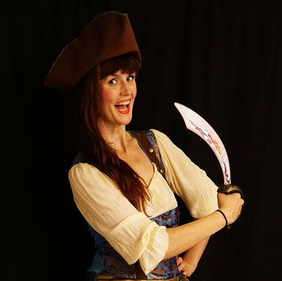 Piratfrau türkis