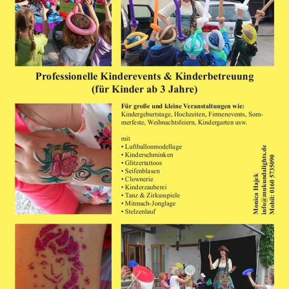 Flyer Kinderbetreuung