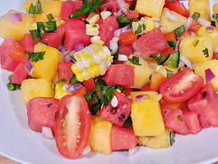 Watermelon Corn Salad