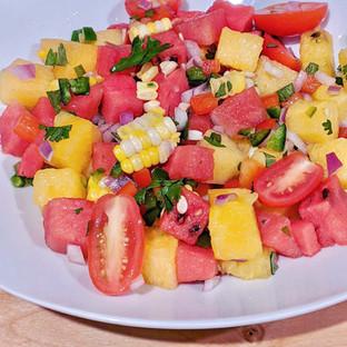 Watermelon Corn Salad