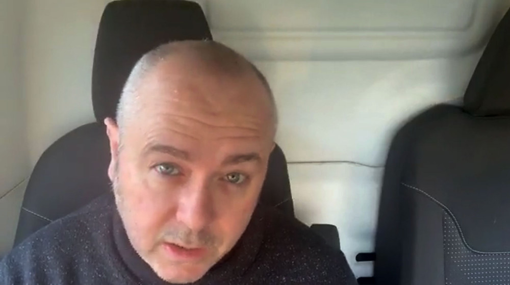 Howard giving a Facebook Live talk