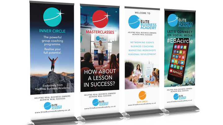 Elite Business Academy Pop-up banners