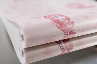 Papel infantil rosa