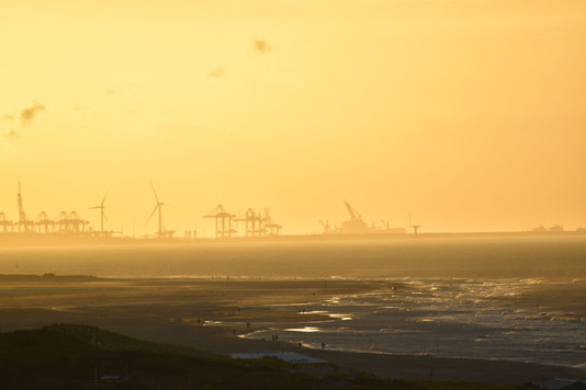 Rotterdam Harbour at Sunset