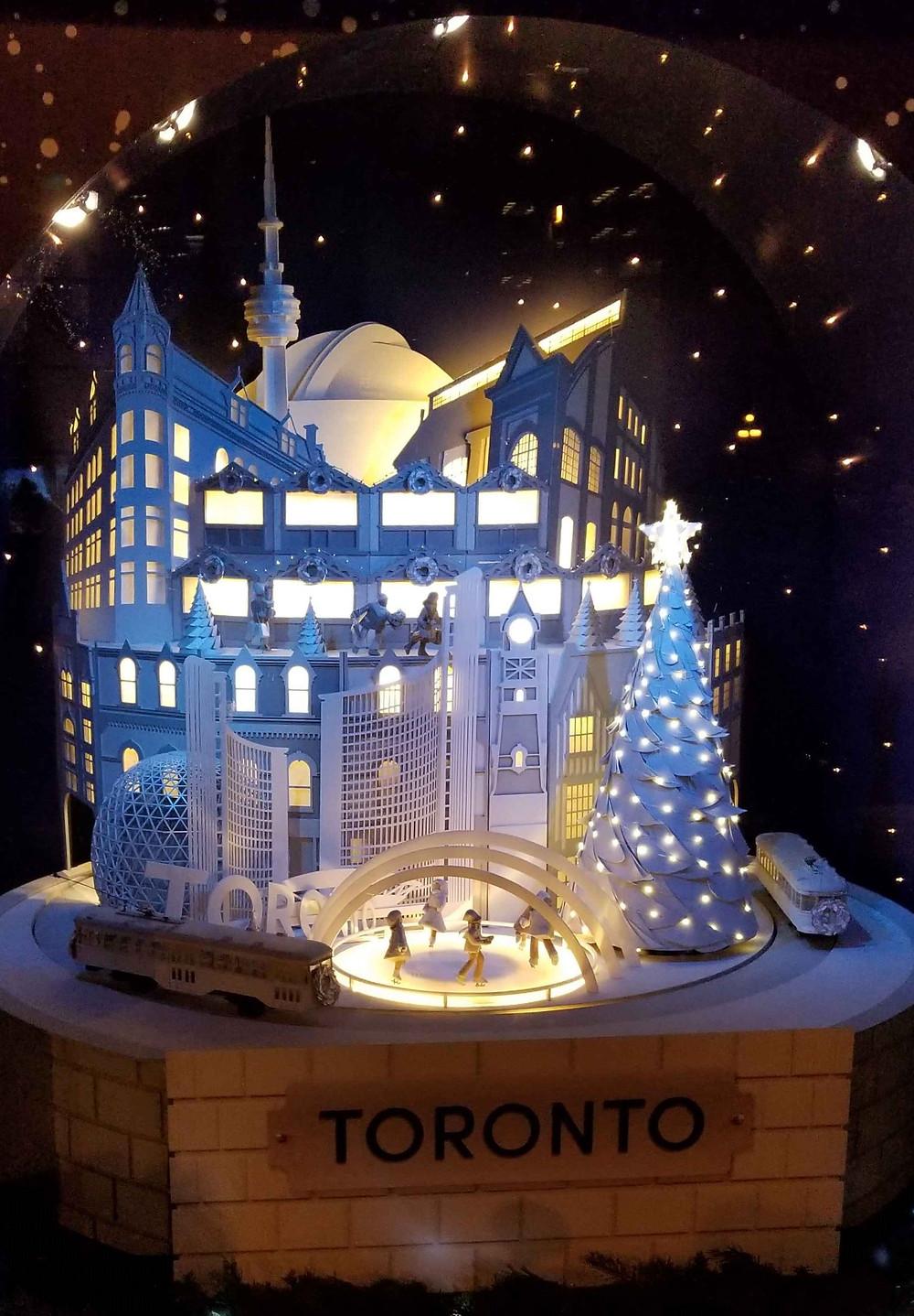 Toronto City Hall Snow Globe by Daniel See