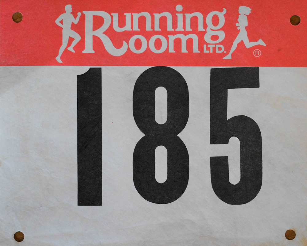 Photo: Running bib from the first run I ever did. It was the St. Patrick's Day 5K in Toronto. Unfortunately, I couldn't find any race results.