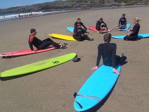 Surf lesson, Newgale, Pembrokeshire