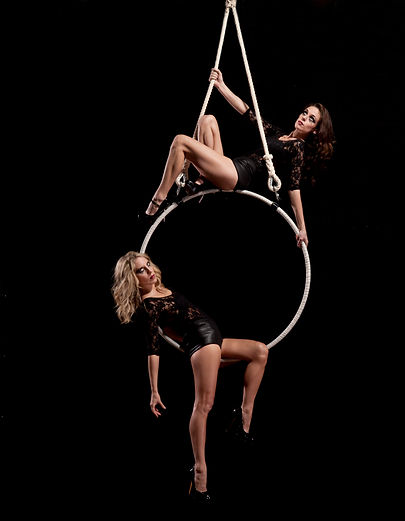 Aerial Hoop, Contortion, Aerialist,  corporate, circus acts, Aerial hoop duo, events