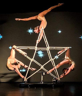 star, spinning star, circus acts, star circus prop, contortionists, acrobats, unusual circus props