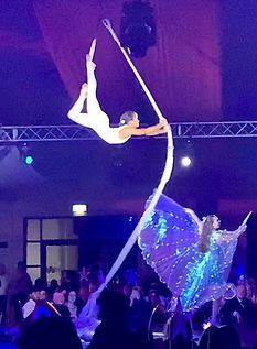 Aerial web spin, Aerialist, Circus, Corporate events, Winter circus