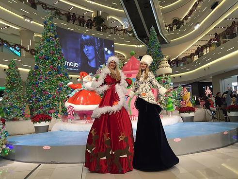 winter wonderland stilts, stilts costumes,circus, Themed events, themed stilts costumes