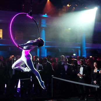 LED acts, LED circus act, aerial hoop,LED hoop,LED prop