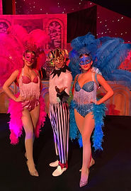 Venetian circus, Masquerade, Showgirl and jester meet and greet.jpg