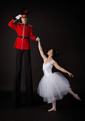 Nutcracker Toy Soldier and ballerina,The Dream,circus, stilts, Themed events, themed stilts costumes