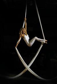 Aerial silks , aerialist, circus, acrobat, corpoarte event,