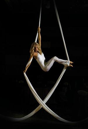 Aerial silks , circus, aerialist