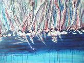 LA DÉBÂCLE  Acryl, galeri 1 '' 1/2 ) 30'' X 36 '' L
