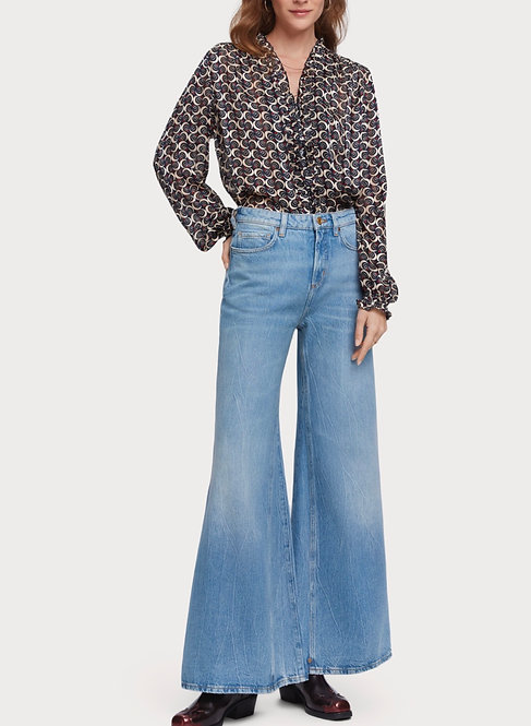 SCOTCHANDSODA Jean de saison extra large – Blue Butter  Jeans high rise