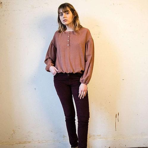 EMILE ET IDA blouse crépon à carreaux